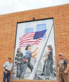 Firemen's memorial mural