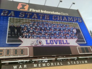 The Lovell Bulldogs trounced the Lyman Eagles in the State 2A football championship game in Laramie.