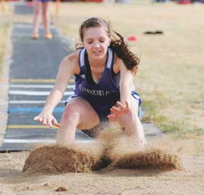 jumping event recently. Walker recorded her best marks of the year so far Saturday the Powell Invitational.