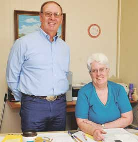 Alan Paxton and Patti Bustos will be retiring from State Farm Insurance next Monday. The office will transfer to Tom Newman. David Peck photo