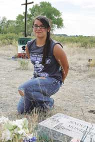 Eighth grade student Sierra Montanez called upon her classmates at Lovell Middle School to help clean up the historic Mexican Cemetery located on U.S. Highway 310 west of Lovell last week.