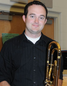 New Rocky Mountain Middle/High School music teacher Nick Tolman.
