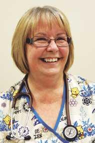 Visiting nurse Diana Ballinger