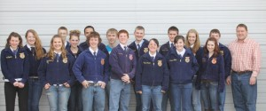 Lovell FFA Chapter members are (l-r) Masey Tippetts, Ivy Abraham, Sami Stevens, Nyckalas Harvey, Tori Tippetts, Mysen McArthur, Randy Walker, Alex Sawaya, Joey Bassett, Curtis Purcell, Kristen Cerroni, Jacob Winterholler, Amanda Allred, Kassi Renner, Dominique Allred, Richard Walker and Mr. Zollman. Not pictured are Cade Bischoff, Colton Wardell, Samantha Clark, Jalyn Tippetts, Lacee Scheeler, Shyann Wilske, Dillon Harvey, and Samantha Chambers.