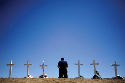 This is among the photographs AAron Ontiveroz, a Denver Post photojournalist, took that was among the newspaper's Pulitzer Prize-winning coverage of last summer's Aurora, Colo., theater massacre. (AAron Ontiveroz, The Denver Post)