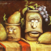 """It Grapes me to be so Impeared"" is the title of this oil painting by Byron artist Denny NeVille. It's one work from a retrospective exhibit on NeVille's career that opens Tuesday, Sept. 24, at Northwest Gallery in Powell. Courtesy photo"