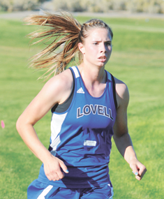 Lovell senior Kim Shumway glides along the course during the Rocky Mountain Invitational earlier this year. Shumway earned all-state honors with an eighth-place finish Saturday in Sheridan. David Peck photo