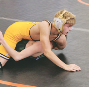 Freshman Brian Crawford showed great promise at a two-day tournament in Powell last week, placing second in his class in the varsity bracket. Patti Carpenter photo