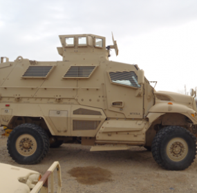 Big Horn County Sheriff's deputies acquired a used, armored personnel carrier for free through a special federal program designed to place equipment not in use by the Dept. of Defense with law enforcement agencies in small communities. Courtesy photo