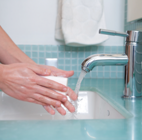 Washing your hands with soap and water often helps keep you healthy.