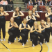 Performing their first-place routine during the State Spirit Competition in Casper last week are Lovell Dance Team members (back row, l-r) Emilee Bryson, Heather Bartling, Amber Mayes, Mya Meier, Tori Aiken, (front row) Chelby Lewis, Whitney Grant, Ashley Steenbakkers, Kaitlyn Grant and Jordan Harper. Renae Miller photo