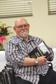 Larry Slater, owner of Big Horn Engraving, was honored with the Trailblazer Award at the Lovell Area Chamber of Commerce awards banquet held on Friday, April 11. Patti Carpenter photo