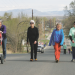 A fun run/walk held on Saturday, April 26 in conjunction with Earth Day festivities was geared toward families like Jan Serfass pushing her grandson Cash Heinert in a stroller, Karen Graves  and JT Prosser walking with his grandmother Annella Prosser. Patti Carpenter photo