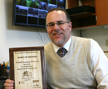 Lovell High School Principal Scott O'Tremba is the 2014 Wyoming Secondary School Principal of the Year. He was named for this honor this week by the Wyoming Secondary Schools Principals Association. Patti Carpenter photo