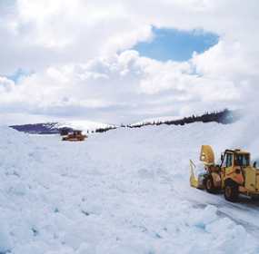 Maintenance crews from Lovell and Northwest Wyoming worked this past week to clear snow from U.S. Highway 14A in the Big Horn Mountains between Lovell and Burgess Junction.