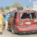 Firefighters and EMTs assisted motorists after a three-car pile up that took place on East Main Street in Lovell last week. David Peck photo