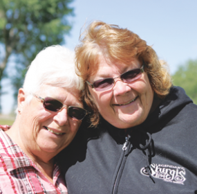 Pen pals Evelyn Wambeke of Deaver (left) and Judi White of Maine finally met for the first time last week when White paid a visit to Wyoming, after more than 50 years of correspondence. Patti Carpenter photo