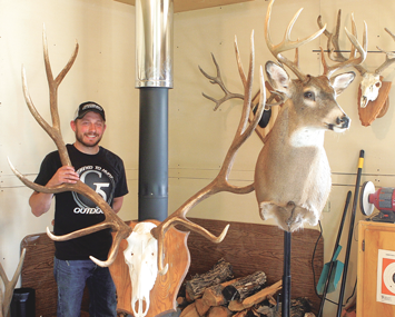 Ty Hecker recently completed a seven-week advanced taxidermy course in Montana and is now offering taxidermy services in his home-based studio. Patti Carpenter photo