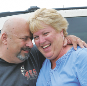 Paula Verdetto (right) said the support of her husband Mike (left), family, friends and a caring community helped her to endure several months of treatments for endometrial cancer, involving surgery, chemotherapy, radiation and other therapies. Patti Carpenter photo