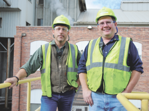 Rob Johnson, left, and Shannon Ellis form a third-generation leadership team at Western Sugar in Lovell. David Peck photo