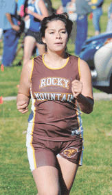 Rocky senior Denice Escalante competes during the state cross country meet Saturday in Sheridan. Escalante placed 31st in her final race.