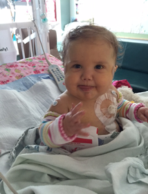 Little Aavah Mangus is spending her Christmas in Children's Primary Hospital in Utah due to complications caused by a rare medical condition.