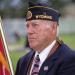 World War II veteran Frank Wilkerson participates in Monday's Memorial Day service in Cowley. Ana Baird photo