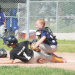 North Big Horn No. 1 batter Jayden Snyder slides into home plate during a School's Out Tournament game Saturday at the East Little League Complex as North Big Horn No. 2 catcher Carsyn Weber tries to apply the tag in time. NBH 1 defeated NBH 2 9-6 to finish second in the tournament. Sam Smith photo