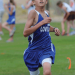 Lovell eighth-grader James Caldwell gives it his all down the stretch during the Lovell Invitational middle school cross country meet Thursday evening at the Foster Gulch Golf Course. Caldwell finished fourth out of 32 runners.  David Peck Photo
