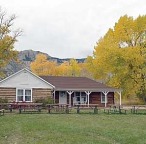 Bighorn Canyon National Recreation Area officials are seeking public input for the rebuilding of the Ewing-Snell ranch house through an ArtPlace America grant. The historic building burned to the ground last December 9. David Peck photo