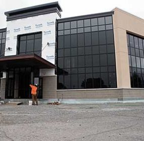 The clinic addition at North Big Horn Hospital is nearing completion, with an expected occupancy date sometime in the fall. Patti Carpenter photo