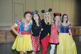 Enjoying Disney Day Monday for homecoming are Rocky Mountain High School students (l-r) Lizzy Crawford, Angelina Helms, Rylee Hayes, Zoiie Petrich and Kim Rowland. David Peck photo