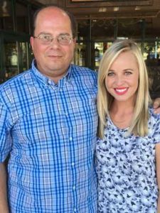 Concert organizer Jack Brinkerhoff met with entertainer Carmen Rasmusen recently to discuss her upcoming performance at the Hyart Theatre. Courtesy Photo