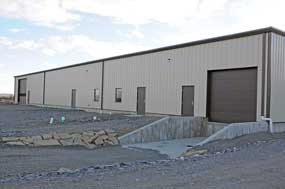Bairco Construction was the general contractor for this new Zeller and Sons Honey processing building on the Cannery Road just west of the Wilson Brothers office.  David Peck photo